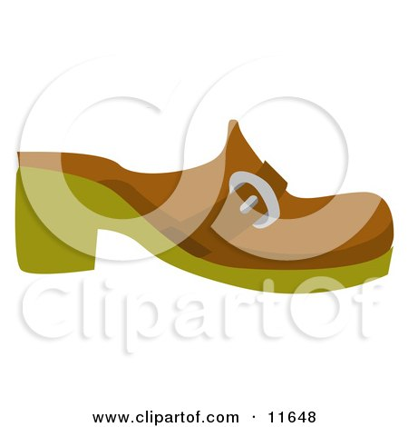 Brown Clog Shoe Clipart Picture by AtStockIllustration