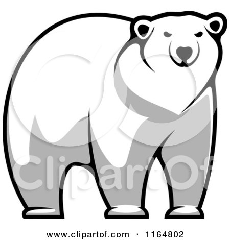Clipart of a Polar Bear 6 - Royalty Free Vector Illustration by Vector Tradition SM