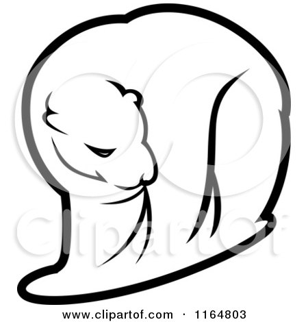 Clipart of a Polar Bear 5 - Royalty Free Vector Illustration by Vector Tradition SM