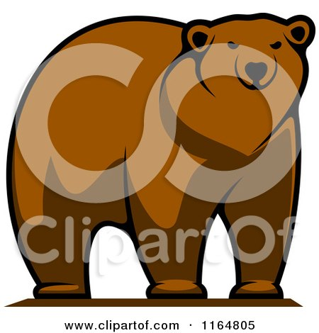 Clipart of a Brown Bear - Royalty Free Vector Illustration by Vector Tradition SM