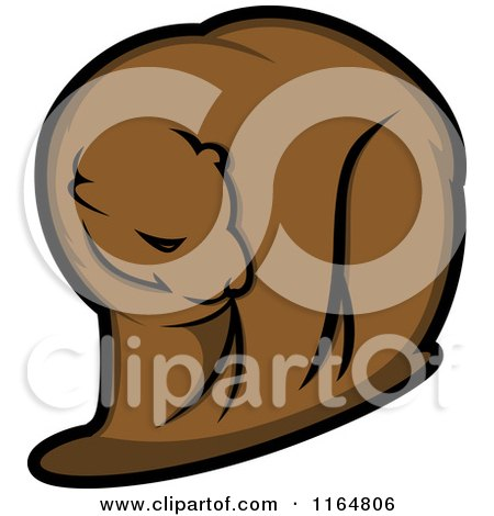 Clipart of a Brown Bear 2 - Royalty Free Vector Illustration by Vector Tradition SM