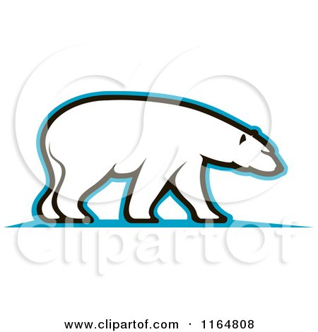 Clipart of a Polar Bear 4 - Royalty Free Vector Illustration by Vector Tradition SM