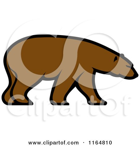 Clipart of a Brown Bear 3 - Royalty Free Vector Illustration by Vector Tradition SM