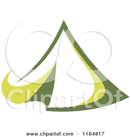 Clipart of a Green Camping Tent 2 - Royalty Free Vector Illustration by Vector Tradition SM