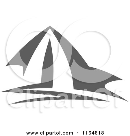Clipart Of A Gray Camping Tent