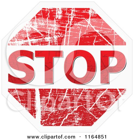 Stop Clipart Png Clipart of a Grungy Stop Sign