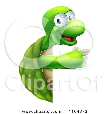 Clipart Illustration Of A Cute Senior Tortoise Turtle