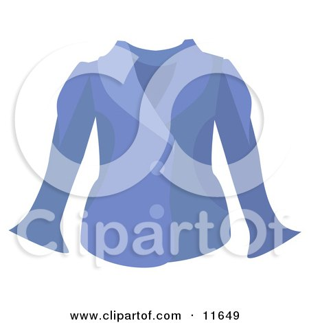 Woman's Blue Jacket Clipart Picture by AtStockIllustration