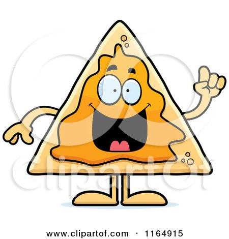 Clip Art Nacho Clipart cartoon of a scared nacho mascot royalty free vector clipart by preview clipart