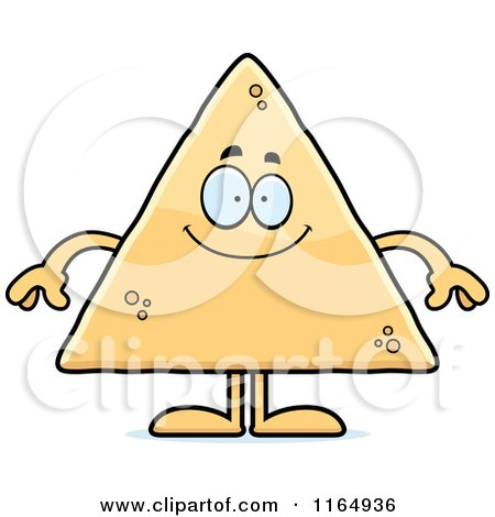 Cartoon of a Happy Tortilla Chip Mascot - Royalty Free Vector Clipart by Cory Thoman