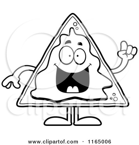 Cartoon Of Cheesy Nachos
