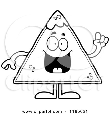 Royalty free rf clipart of tortilla chips illustrations for Nachos coloring page