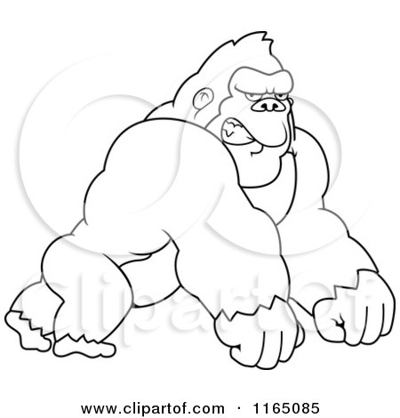 Angry gorilla coloring pages - photo#12