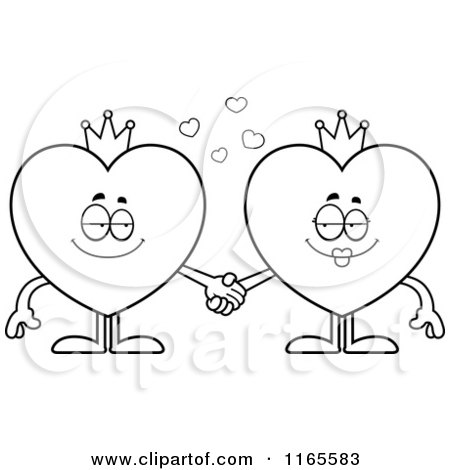 free coloring pages king of hearts | Royalty-Free (RF) Clipart of King Of Hearts, Illustrations ...