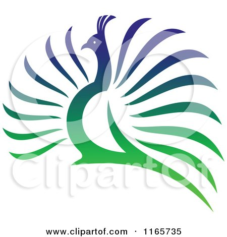 Clipart of a Colorful Peacock 4 - Royalty Free Vector Illustration by Vector Tradition SM