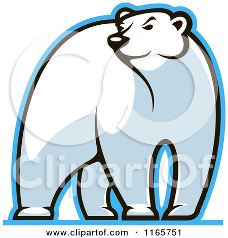Clipart of a Polar Bear Glancing - Royalty Free Vector Illustration by Vector Tradition SM