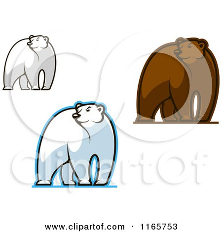 Clipart of Glancing Bears - Royalty Free Vector Illustration by Vector Tradition SM