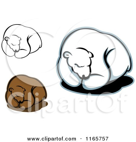 Clipart of Resting Bears - Royalty Free Vector Illustration by Vector Tradition SM