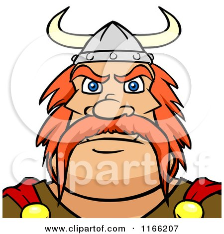 Cartoon of a Viking Man Avatar - Royalty Free Vector Clipart by Cartoon Solutions