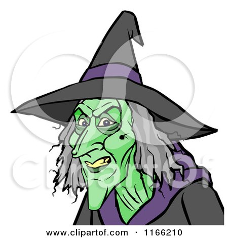 Cartoon of a Witch Avatar - Royalty Free Vector Clipart by Cartoon Solutions