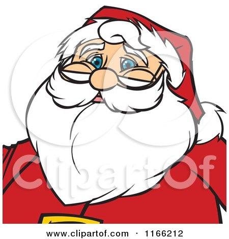 Cartoon of a Santa Christmas Avatar - Royalty Free Vector Clipart by Cartoon Solutions