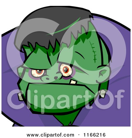 Cartoon of a Frankenstein Avatar - Royalty Free Vector Clipart by Cartoon Solutions