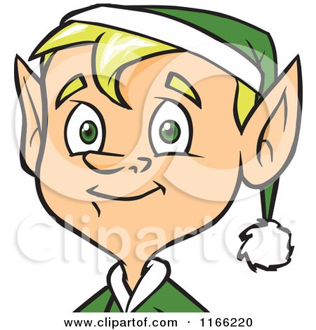 Cartoon of a Male Christmas Elf Avatar - Royalty Free Vector Clipart by Cartoon Solutions