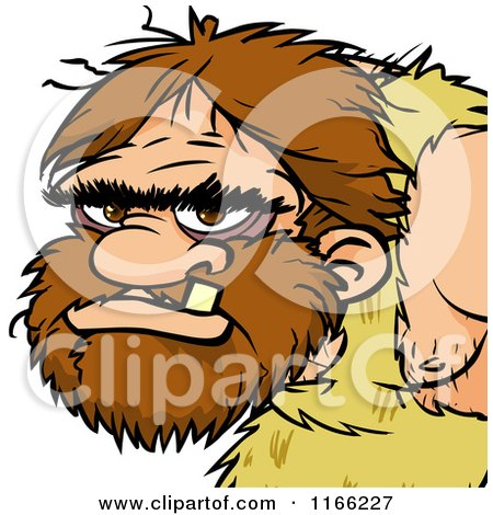 Cartoon of a Caveman Avatar - Royalty Free Vector Clipart by Cartoon Solutions