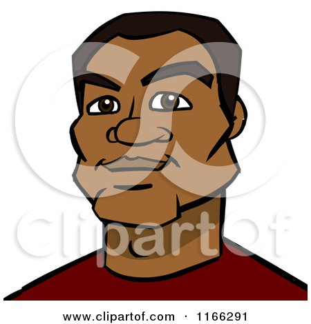Cartoon of a Black Man Avatar - Royalty Free Vector Clipart by Cartoon Solutions