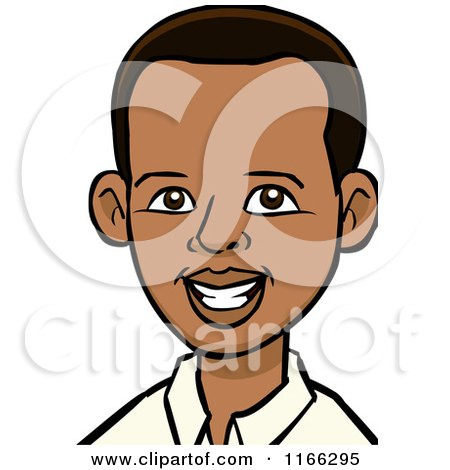 Cartoon of a Young Black Man Avatar - Royalty Free Vector Clipart by Cartoon Solutions