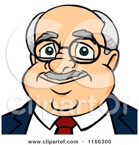 Cartoon of a Bald Businessman Avatar - Royalty Free Vector Clipart by Cartoon Solutions