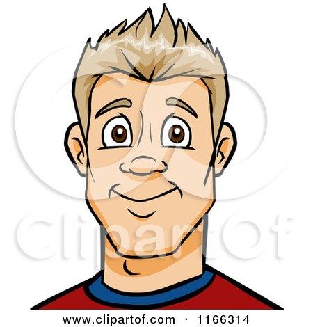 Cartoon of a Blond Man Avatar 2 - Royalty Free Vector Clipart by Cartoon Solutions
