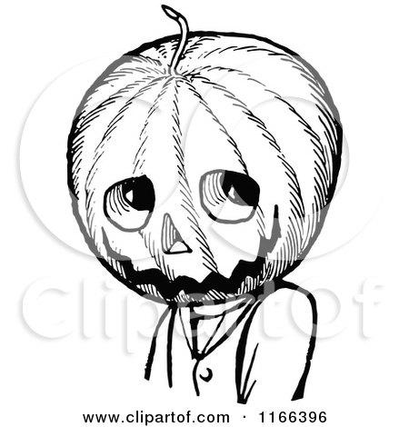 Pumpkin Head Drawing And White Jack Pumpkinhead