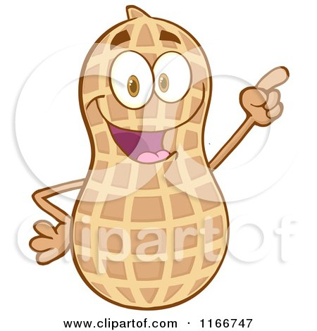 Cartoon of a Peanut Character Pointing - Royalty Free Vector ...