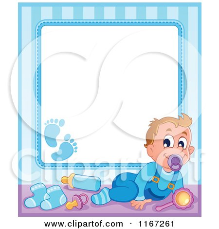 Royalty-Free (RF) Clipart of Baby Borders, Illustrations, Vector ...