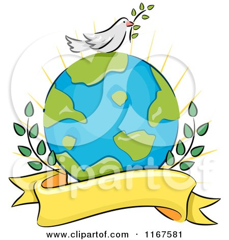 Peaceful World Drawings Peace Dove on Earth With