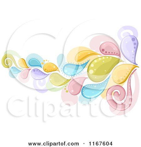Cartoon of a Splash Design Element in Colorful Pastels - Royalty Free Vector Clipart by BNP Design Studio