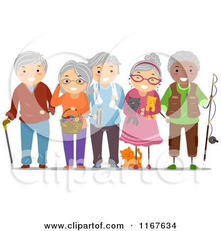 1167634 Cartoon Of A Group Of Diverse Senior Adults Royalty Free Vector Clipart Choose one of our four hot adult entertainment networks or choose all ...