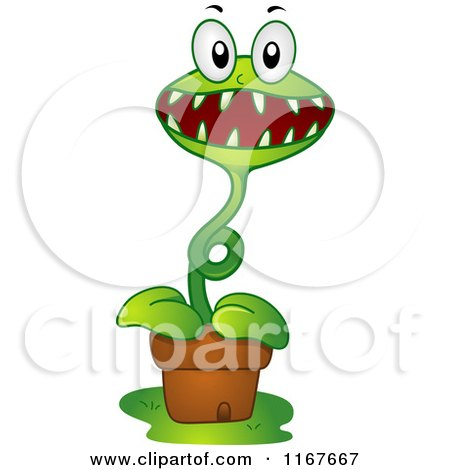 Venus Fly Trap Outline Venus Fly Trap Mascot by Bnp