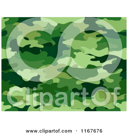 Cartoon of a Seamless Green Camouflage Pattern - Royalty Free Vector Clipart by BNP Design Studio