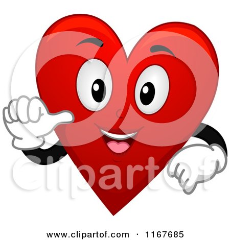 Cartoon of a Happy Red Heart Playing Card Suit Mascot - Royalty Free Vector Clipart by BNP Design Studio