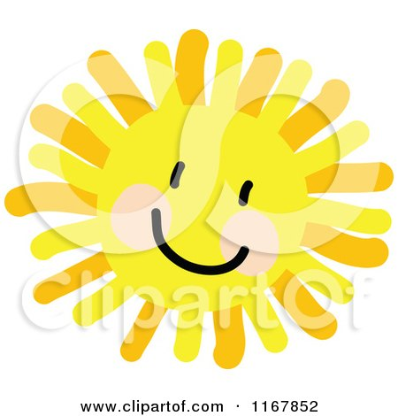 Cartoon of a Cheerful Sun with a Smile - Royalty Free Vector Clipart by Maria Bell