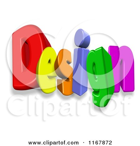 Clipart of 3d Colorful Letters Spelling Design - Royalty Free CGI Illustration by MacX