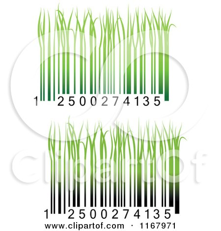 Clipart of Green Grass Bar Codes - Royalty Free Vector Illustration by Vector Tradition SM