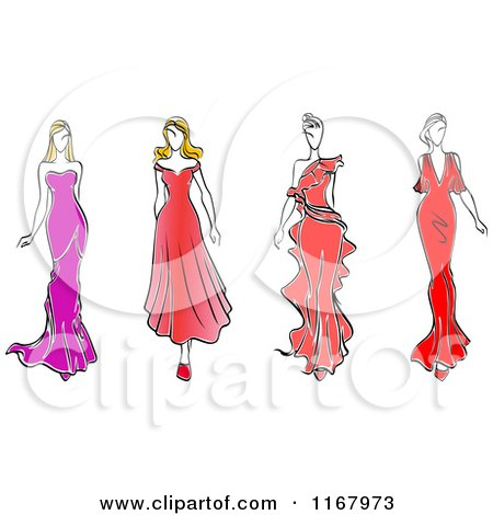 Royalty-Free (RF) Fashion Model Clipart, Illustrations, Vector ...