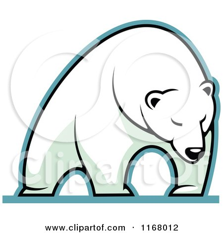 Clipart of a Polar Bear - Royalty Free Vector Illustration by Vector Tradition SM