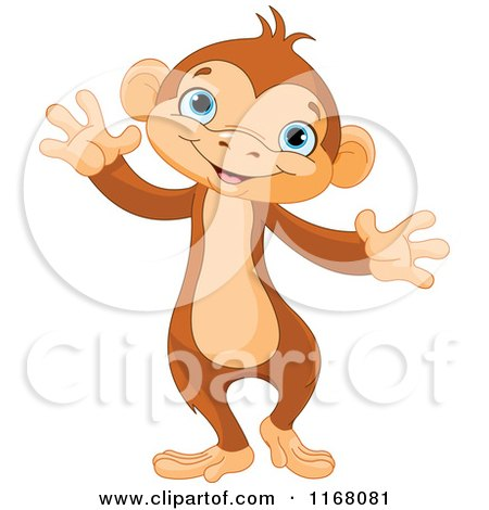 Cute cartoon monkey love - photo#26
