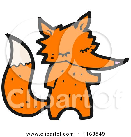Cartoon of a Fox - Royalty Free Vector Illustration by lineartestpilot