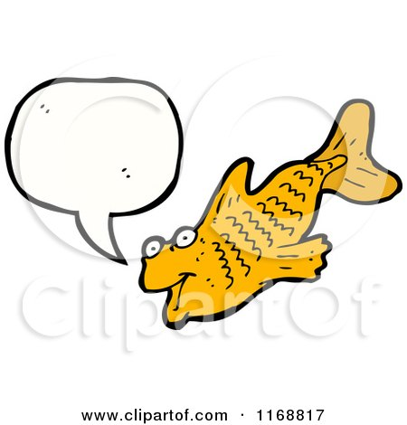 Cartoon of a Talking Fish - Royalty Free Vector Illustration by lineartestpilot