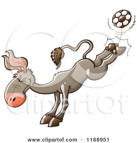 Donkey Kick Clipart Donkey Kicking a Soccer Ball